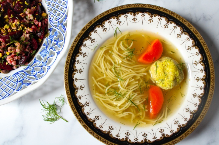 golden matzo ball soup