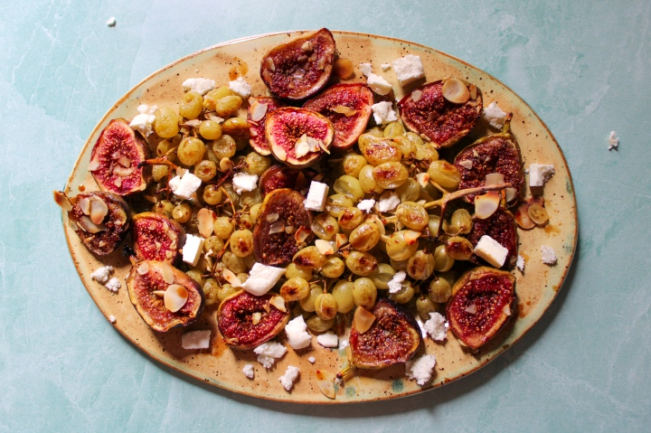 Syrian-inspired roasted figs and grapes