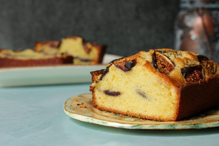 fig and orange-zested cake